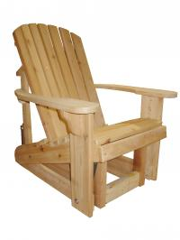 Click to enlarge image ``Big Boy`` Adirondack Glider, 23`` seat width -  Glide your day away